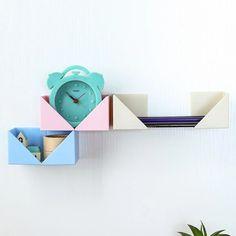 4Pcs Creative DIY Paste Wall Hanging Decorative Storage Rack