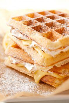 Lemon Meringue Pie Waffles. Holy Moly! This needs to happen