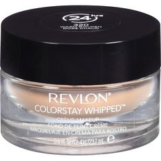 Revlon Colorstay Whipped Creme Makeup...this stuff really stays on FOREVER! Best foundation even compared to the higher end brands.