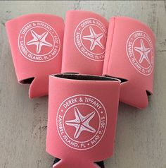 100 Beach Wedding Koozies Can Coolers Wedding Favors by LoveyDoveyCreations