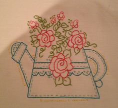 Pattern on Etsy by busyascanbe. Embroidery by me.