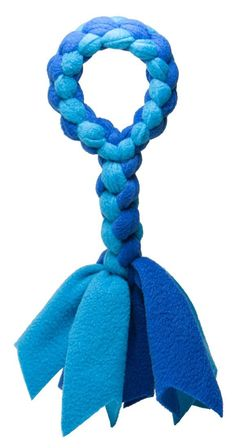 Amazon.com : Squishy Face Studio Braided Fleece Tug Rope Dog Toy : Squishy Face Studio : Pet Supplies ------------------- I think I can make this.