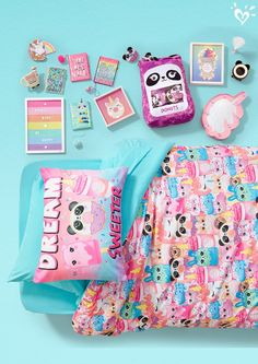Bedding + extras for the coolest room ever! Source by kawaii