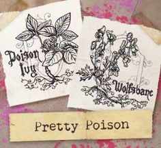 Pretty Poison (Design Pack) UTP1192 Craft darkly beautiful decor with old-fashioned botanical illustrations of pretty yet poisonous plants.
