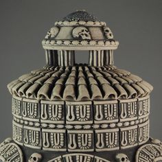"""Est Finis Omnium - End of All Things"" - detail Andrew Tarrant - Trespasser Ceramics Earthenware, All Things, Carving, Jar, Pottery, Ceramics, Detail, Unique, Artwork"