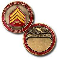 Sergeant Engravable Coin