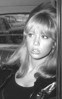 """no1-dollybird: """"Pattie Boyd,1966 """" May 26, 1964 - Pattie in car at Heathrow Airport upon return from Tahitian holiday."""