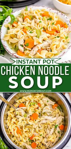 New Recipes, Soup Recipes, Chicken Recipes, Cooking Recipes, Favorite Recipes, Slow Cooker Pressure Cooker, Instant Pot Pressure Cooker, Pressure Cooking, Chicken Noodle Soup