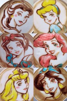 Which of these Disney Princess beautiful latte art is your favorite? #Coffee #MrCoffee
