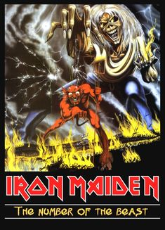 """Iron Maiden British Rock Band """"Number Of The Beast"""" ReproductionStand-Up Display Hard Rock, Heavy Metal Music, Heavy Metal Bands, Woodstock, Rock Bands, Iron Maiden Mascot, Iron Maiden Posters, Rock Y Metal, Number Of The Beast"""