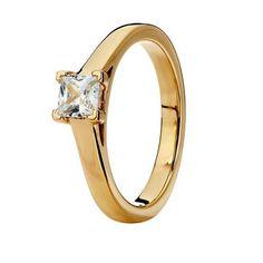 Diamantring i 18K guld - Guldfynd