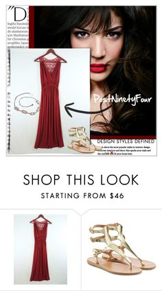 """""""PostNinetyFour 1/10"""" by emina-095 ❤ liked on Polyvore featuring Balmain, IVI and Ancient Greek Sandals"""