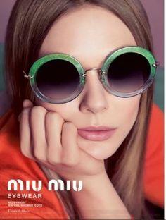 Elizabeth Olsen for Miu Miu Eyewear Spring/Summer 2014