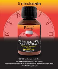 Gör ditt eget vin på 5 minuter. Blanda vinkoncentrat, sprit och vatten. Alltid samma goda smak av druvtypiska viner. Toppresultat varje gång. www.hembryggning.se