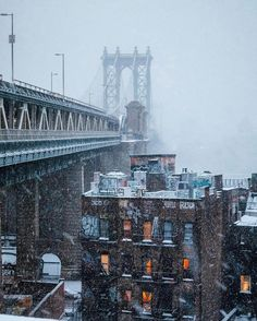 "@newyork_instagram on Instagram: "" Manhattan Bridge during ❄️️snow storm Photo by @constantism Tag ‍♂️ a friend! Follow @newyork_instagram for more #NewYork #NewYorkCity #newyorker #NewYorkNewYork #NYC #nyclife #USA #America #UnitedStates #city #citylife #view #bigcity #vsco #vscocam #manhattan #Brooklyn #soho #eastvillage #timessquare #bigapple #photogrid #photo #bridge #instagramers #instagrammers #instamood #street #view #architecture #snow"""