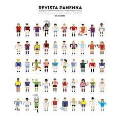 Revista Panenka // Especial 50 50 números y 50 futbolistas cincuentones /// Panenka Magazine // 50 Special issue (Football players on their fifties) by www.delhambre.com https://www.behance.net/gallery/34461719/PANENKA-MAG-Especial-issue-50-Football-players
