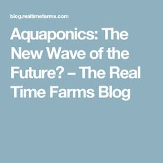 Aquaponics: The New Wave of the Future? – The Real Time Farms Blog