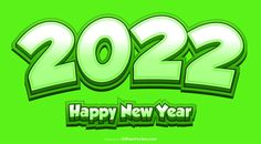 Free New Year Green Background 2022