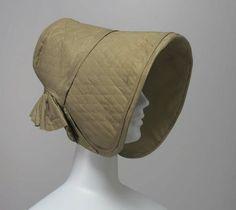 A woman's poke bonnet American ca. 1840