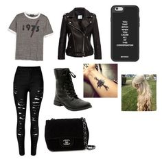 """""""School day"""" by xxashleyxxxx on Polyvore featuring Topshop, Chanel, women's clothing, women, female, woman, misses and juniors"""