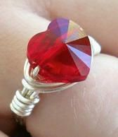 Check our Idea Page - Project #129 for details on this gorgeous and very easy to make Swarovski Heart Ring. YOU can do it!