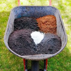 Fill your garden bed with a rich, light soil mix. A general all-purpose recipe includes 1 part perlite and 2 parts each of topsoil, peat moss, and compost. Mix it well and remember to fertilize plants - either with a water-soluble fertilizer twice a month or a slow-release granular fertilizer once or twice a season..
