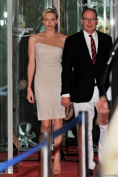 MYROYALS  FASHİON: Prince Albert and Princess Charlene Attend a Boxing Match-July 13, 2013
