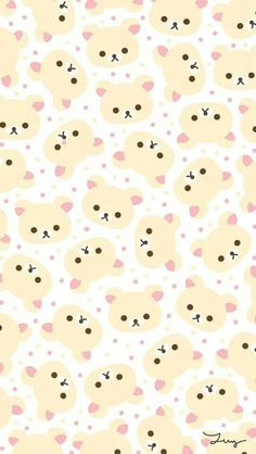 #papelestampado #pattern #papeldecorativo #wallpaper #background #fondo #kawaii #rilakkuma