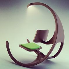 this is one funky rocking chair. (not my taste, but someone must like it)