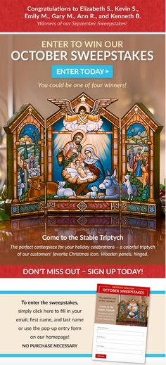 This Month's Online Sweepstakes: Monastery Icons