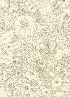 Flowers lineal #pattern