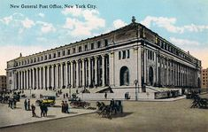 Vintage Postcard of The New General Post Office, New York, Circulated 1919 for Like the Vintage Postcard of The New General Post Office, New York, Circulated Get it at General Post Office, New York Post, Stay The Night, Present Day, New York City, Louvre, Nyc, Building, Places