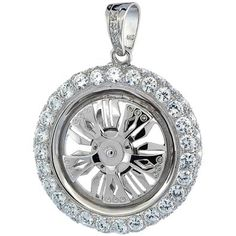 Check Out This Genuine Spinning Rim Sterling Silver Pendant! - The Best Cheap Quality Swag Item On The Market. - Product Details Inside!