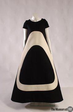 1960's Fashion ~ Evening dress by Michel Goma, 1967-69