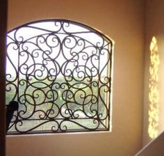 Faux Wrought Iron Window Treatment. by tvonschimo, via Flickr