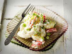 Peruna-kukkakaalisalaatti Pasta Salad, Potato Salad, Potatoes, Ethnic Recipes, Easy, Food, Crab Pasta Salad, Potato, Essen