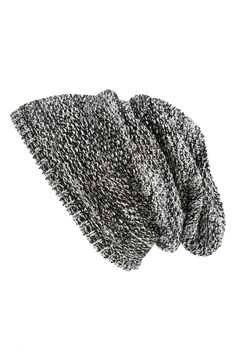 A slouchy beanies is a must for fall.