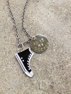 10 Is My Doctor Whovian Fandom Necklace by ArkhamsChilde on Etsy
