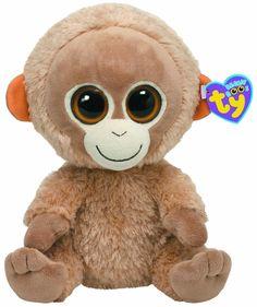 8949bcbd9d1 Ty Beanie Boo Buddy Tangerine Orangutan Big Eyed Stuffed Animals