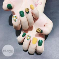 - Have you found your nails lack of some fashionable nail art? Yes, recently, many girls personalize their fingernails with beautiful nail design to dec. Nail Art Designs, Fruit Nail Designs, Little Girl Nails, Girls Nails, Love Nails, Pink Nails, Pretty Nails, Minimalist Nails, Nail Swag