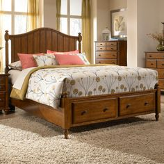 Hayden place king bed with sleigh headboard by broyhill - Broyhill hayden place bedroom set ...