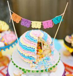 Lovely sweet pinata cake @Krista Lee Alvarez you gotta try this