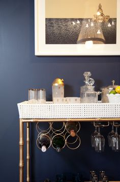 Birdhouse Interiors 2011 HOME event. The Dining Room bar cart.