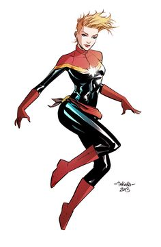 Ms. Marvel, now Captain Marvel. Don't know the character much but totally digging the rename and redesign.