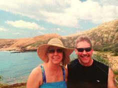 Theresa and dad Hanauma bay Honolulu Hawaii