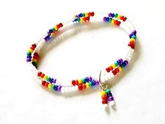 beads pure and simple Rainbow ankle bracelet pride colors LGBT seed bead anklet Beaded Earrings, Beaded Bracelets, Waist Jewelry, Pride Colors, Beaded Anklets, Ankle Bracelets, Stone Bracelet, Friendship Bracelets, Seed Beads