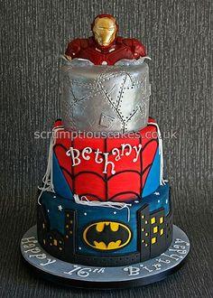 Birthday Cake - Super Hero (Batman, Spiderman & Iron Man)