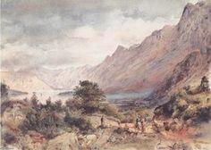 Rudolf Von Alt - Die Bucht von Cattaro in Dalmatien