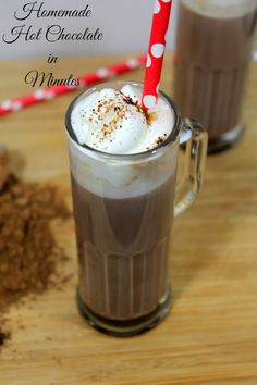 Easy Homemade Hot Chocolate in Minutes | Heather at www.realthekitchenandbeyond.com
