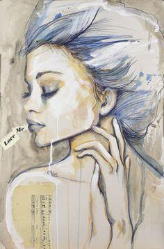 "Sara Riches; Drawing, ""Love Me"" #art"